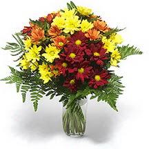 Burdur çiçek siparişi sitesi  Karisik çiçeklerden mevsim vazosu