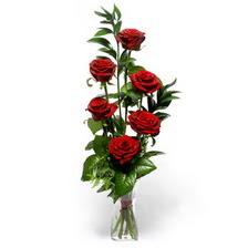 Burdur uluslararası çiçek gönderme  mika yada cam vazoda 6 adet essiz gül