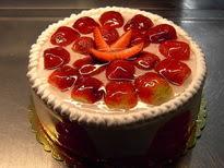 Meyvali yas pasta 4 ile 6 kisilik pasta  Burdur çiçek siparişi sitesi