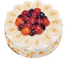 Meyvali 4 ile 6 kisilik yas pasta leziz  Burdur ucuz çiçek gönder
