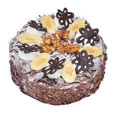 Muzlu çikolatali yas pasta 4 ile 6 kisilik   Burdur uluslararası çiçek gönderme