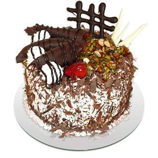 4 ile 6 kisilik çikolatali yas pasta  Burdur kaliteli taze ve ucuz çiçekler