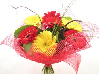 9 adet gerbera çiçeklerinden buket  Burdur çiçek satışı
