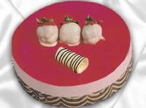 pasta siparisi 4 ile 6 kisilik yas pasta çilekli yaspasta  Burdur çiçek servisi , çiçekçi adresleri
