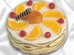 lezzetli pasta satisi 4 ile 6 kisilik yas pasta portakalli pasta  Burdur çiçekçi mağazası