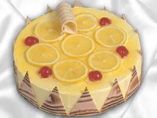taze pastaci 4 ile 6 kisilik yas pasta limonlu yaspasta  Burdur online çiçek gönderme sipariş