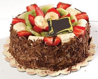 pastaci firmasindan 4 ile 6 kisilik çikolata meyvali yaspasta  Burdur çiçek siparişi sitesi