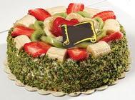 pasta gönder  4 ile 6 kisilik karisik meyvali yas pasta  Burdur internetten çiçek siparişi