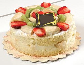 pasta siparisi 4 ile 6 kisilik karisik meyvali yas pasta  Burdur çiçek servisi , çiçekçi adresleri