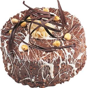 pasta satisi 4 ile 6 kisilik çikolatali yas pasta  Burdur İnternetten çiçek siparişi