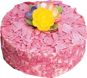 pasta siparisi 4 ile 6 kisilik framboazli yas pasta  Burdur çiçek yolla