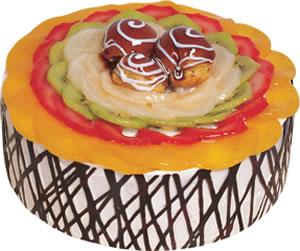 pasta siparisi 4 ile 6 kisilik meyvali yas pasta  Burdur çiçek satışı