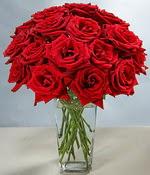Burdur çiçek siparişi sitesi  Sevdiklerinize özel ürün 12 adet cam içerisinde kirmizi gül  Burdur hediye çiçek yolla