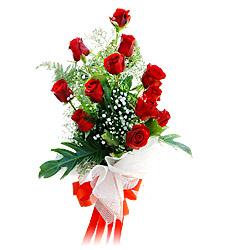 11 adet kirmizi güllerden görsel sölen buket  Burdur çiçek siparişi vermek