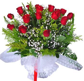 11 adet gösterisli kirmizi gül buketi  Burdur internetten çiçek satışı