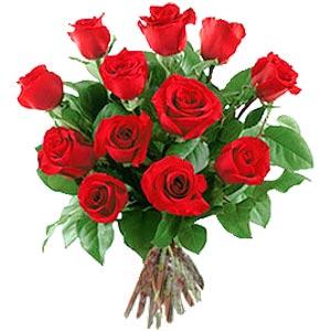 11 adet bakara kirmizi gül buketi  Burdur güvenli kaliteli hızlı çiçek