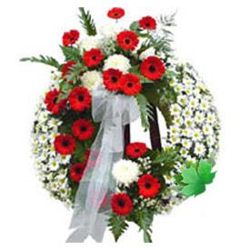 Cenaze çelengi cenaze çiçek modeli  Burdur uluslararası çiçek gönderme