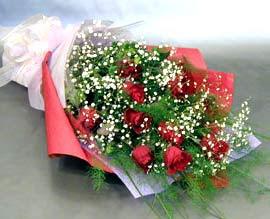 10 adet kirmizi gül çiçegi gönder  Burdur anneler günü çiçek yolla