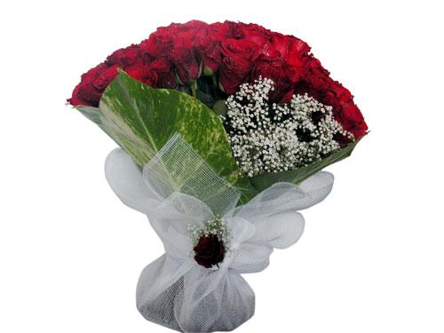 25 adet kirmizi gül görsel çiçek modeli  Burdur çiçek servisi , çiçekçi adresleri