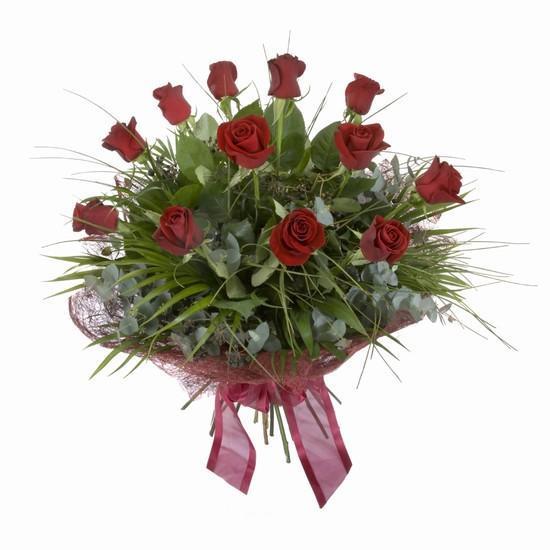 Etkileyici buket 11 adet kirmizi gül buketi  Burdur internetten çiçek satışı