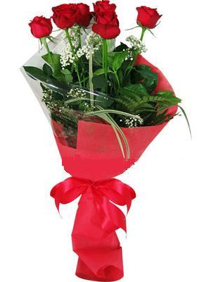 7 adet kirmizi gül buketi  Burdur çiçek yolla , çiçek gönder , çiçekçi