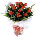 Burdur çiçek , çiçekçi , çiçekçilik  9 adet güzel bir gül buketi