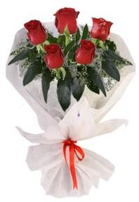 5 adet kirmizi gül buketi  Burdur çiçekçiler