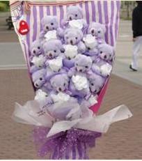 11 adet pelus ayicik buketi  Burdur çiçek gönderme sitemiz güvenlidir