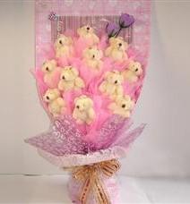 11 adet pelus ayicik buketi  Burdur çiçek yolla