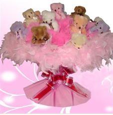 11 adet pelus ayicik buketi  Burdur çiçek satışı