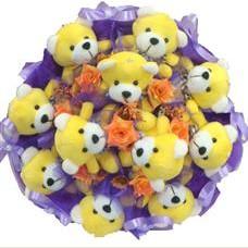 11 adet pelus ayicik buketi  Burdur çiçek mağazası , çiçekçi adresleri