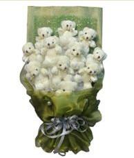 11 adet pelus ayicik buketi  Burdur online çiçek gönderme sipariş