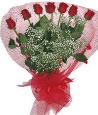 7 adet kipkirmizi gülden görsel buket  Burdur çiçek mağazası , çiçekçi adresleri