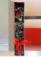 kutu içinde tek kirmizi gül  Burdur çiçek online çiçek siparişi