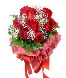 9 adet en kaliteli gülden kirmizi buket  Burdur çiçek servisi , çiçekçi adresleri
