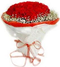 Burdur çiçekçiler  41 adet kirmizi gül buketi
