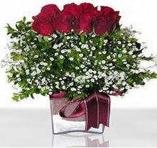 Burdur internetten çiçek satışı  mika yada cam vazo içerisinde 7 adet gül