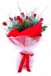 Burdur İnternetten çiçek siparişi  9 adet kirmizi gül buketi demeti