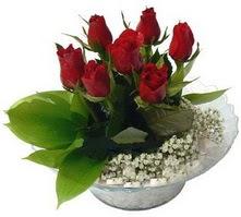 Burdur internetten çiçek satışı  cam yada mika içerisinde 5 adet kirmizi gül
