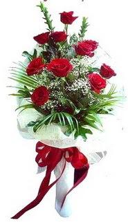 Burdur ucuz çiçek gönder  10 adet kirmizi gül buketi demeti