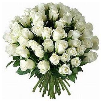 Burdur çiçek servisi , çiçekçi adresleri  33 adet beyaz gül buketi