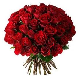 Burdur çiçek , çiçekçi , çiçekçilik  33 adet kırmızı gül buketi