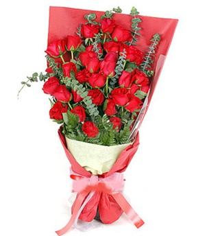 Burdur çiçek gönderme  37 adet kırmızı güllerden buket