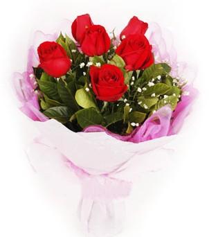 Burdur hediye sevgilime hediye çiçek  kırmızı 6 adet gülden buket
