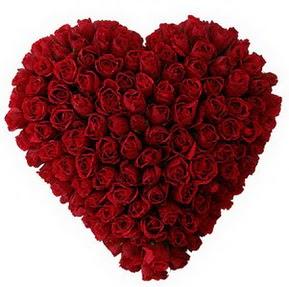 Burdur çiçekçi mağazası  muhteşem kırmızı güllerden kalp çiçeği