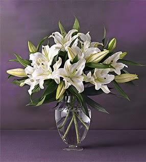 Burdur İnternetten çiçek siparişi  4 dal cazablanca vazo çiçeği