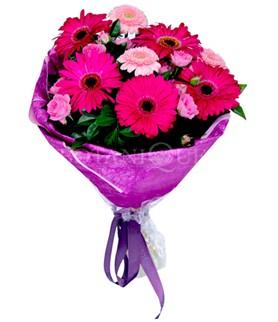 Burdur çiçek siparişi sitesi  karışık gerbera çiçeği buketi
