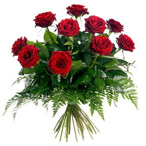 Burdur çiçek gönderme  10 adet kırmızı gülden buket