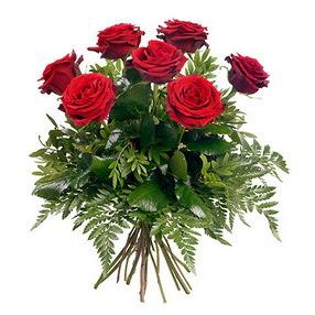 Burdur online çiçek gönderme sipariş  7 adet kırmızı gülden buket