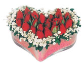Burdur çiçekçi telefonları  mika kalpte kirmizi güller 9